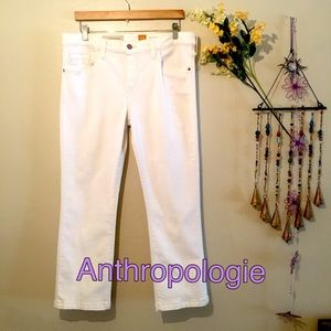 Anthropologie/Pilcro & the letterpress White Jeans
